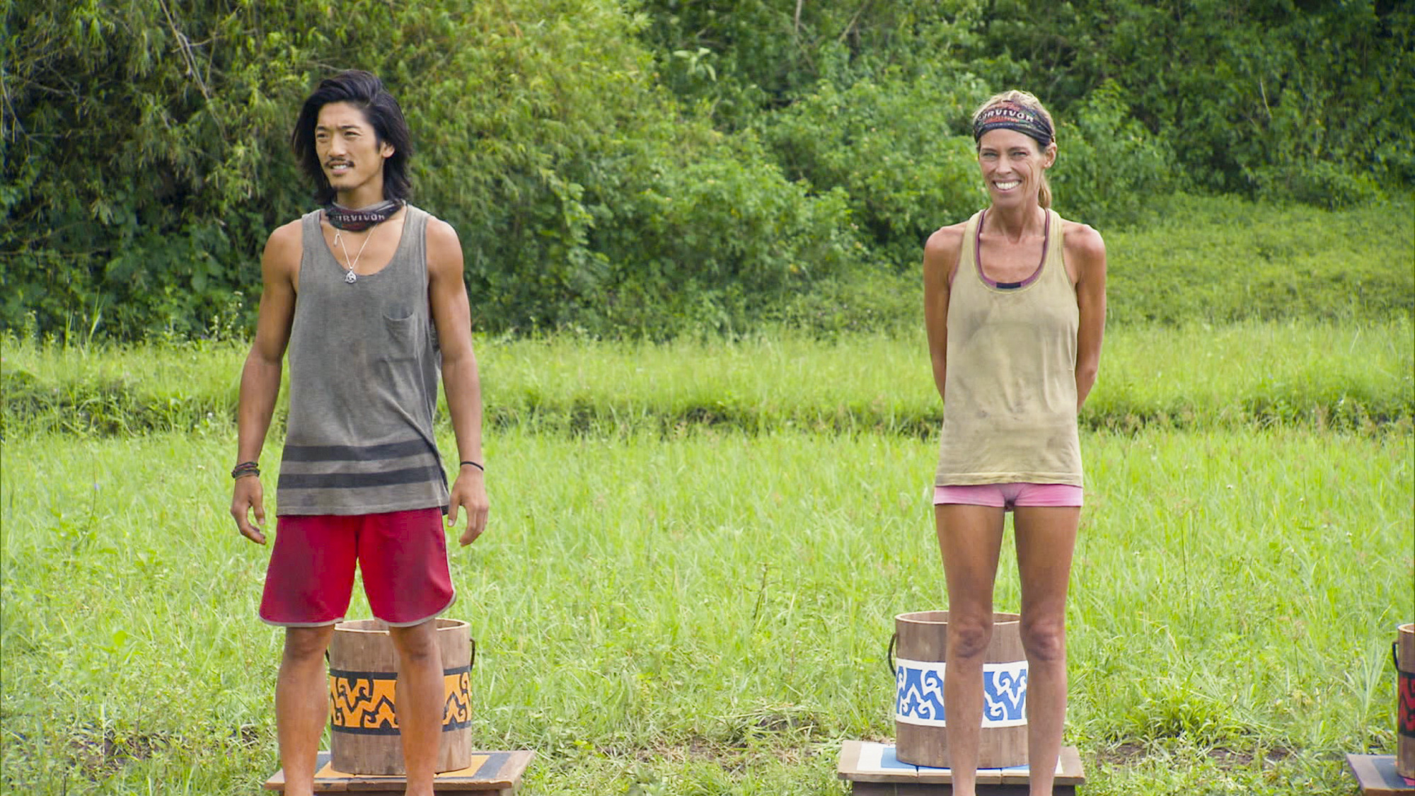 Woo and Trish in Season 28 Episode 12