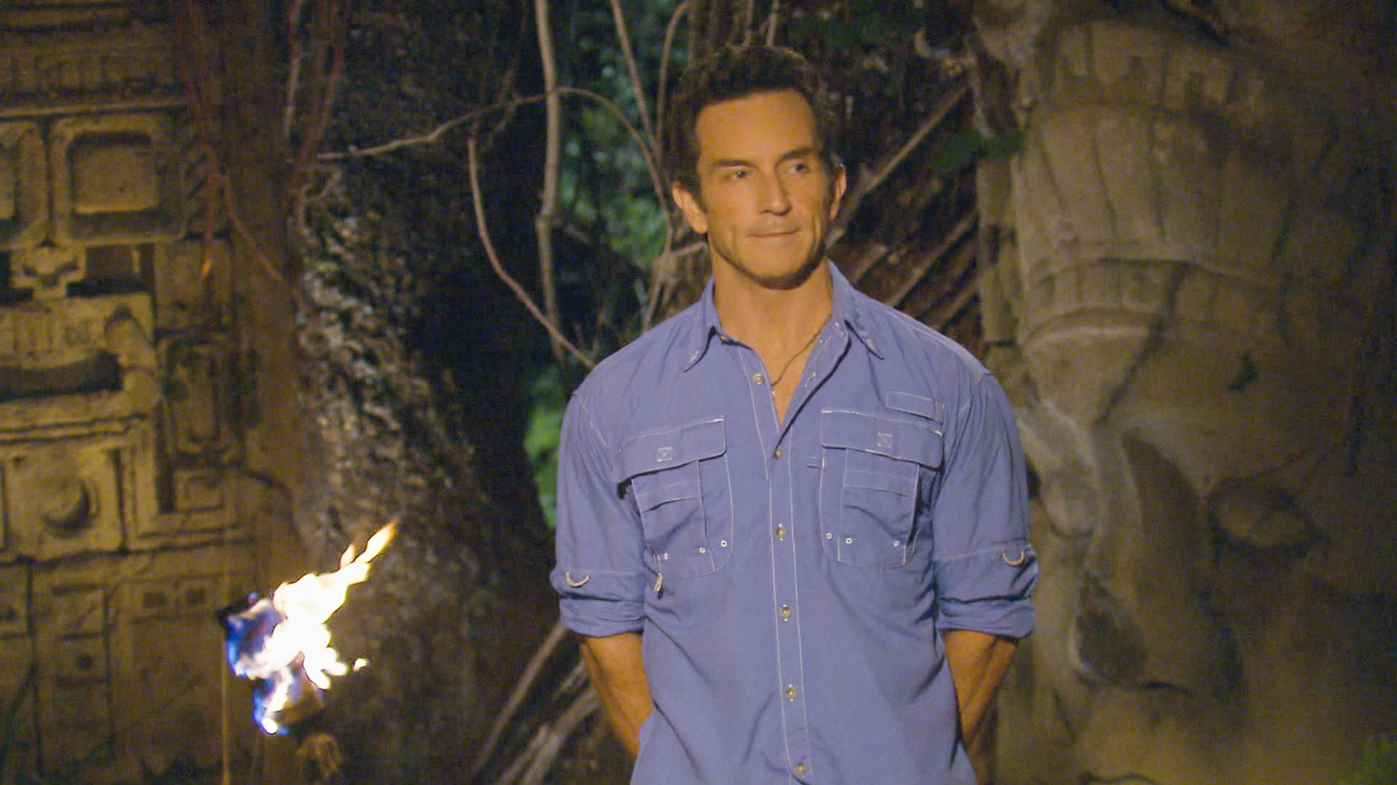 Jeff at tribal council