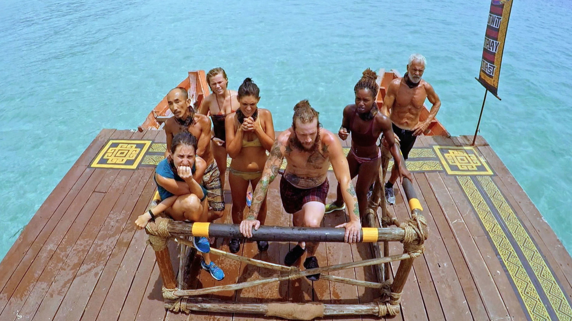 Competing for Individual Immunity has all the castaways putting on their most serious game faces.