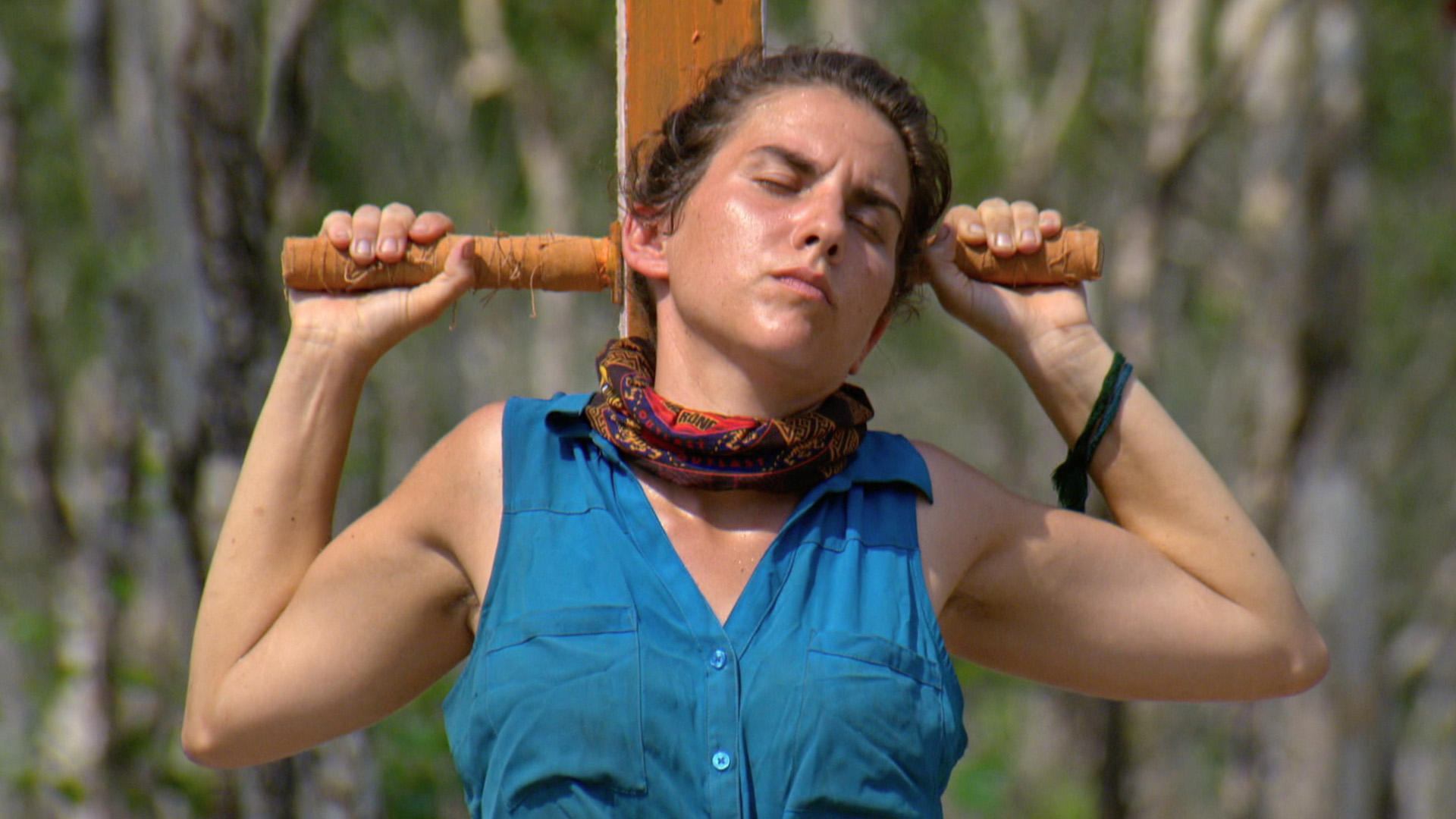 Aubry tries to find some comfort when the challenge grows tedious.