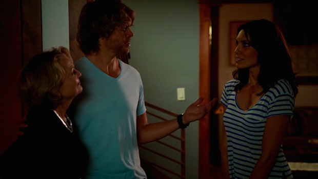 When Kensi met Deeks' mom.