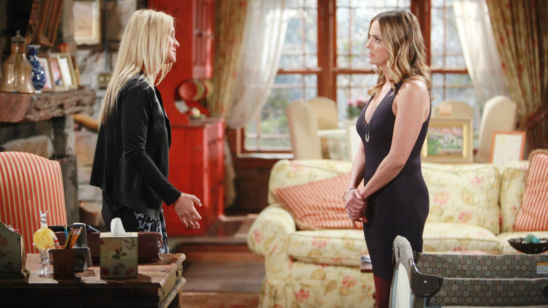 Sharon opens up to Sage.