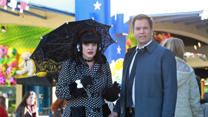 Pauley Perrette as Abby Sciuto and Michael Weatherly as Anthony DiNozzo