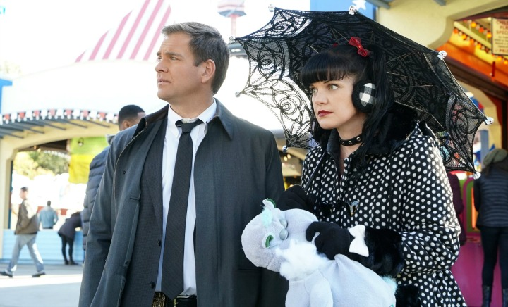 Michael Weatherly as Anthony DiNozzo and Pauley Perrette as Abby Sciuto