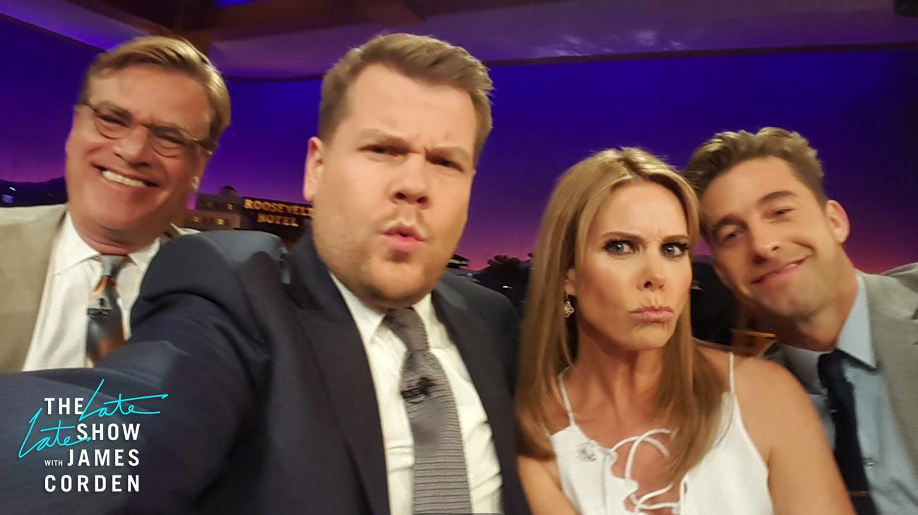 Aaron Sorkin, Cheryl Hines and Scott Speedman