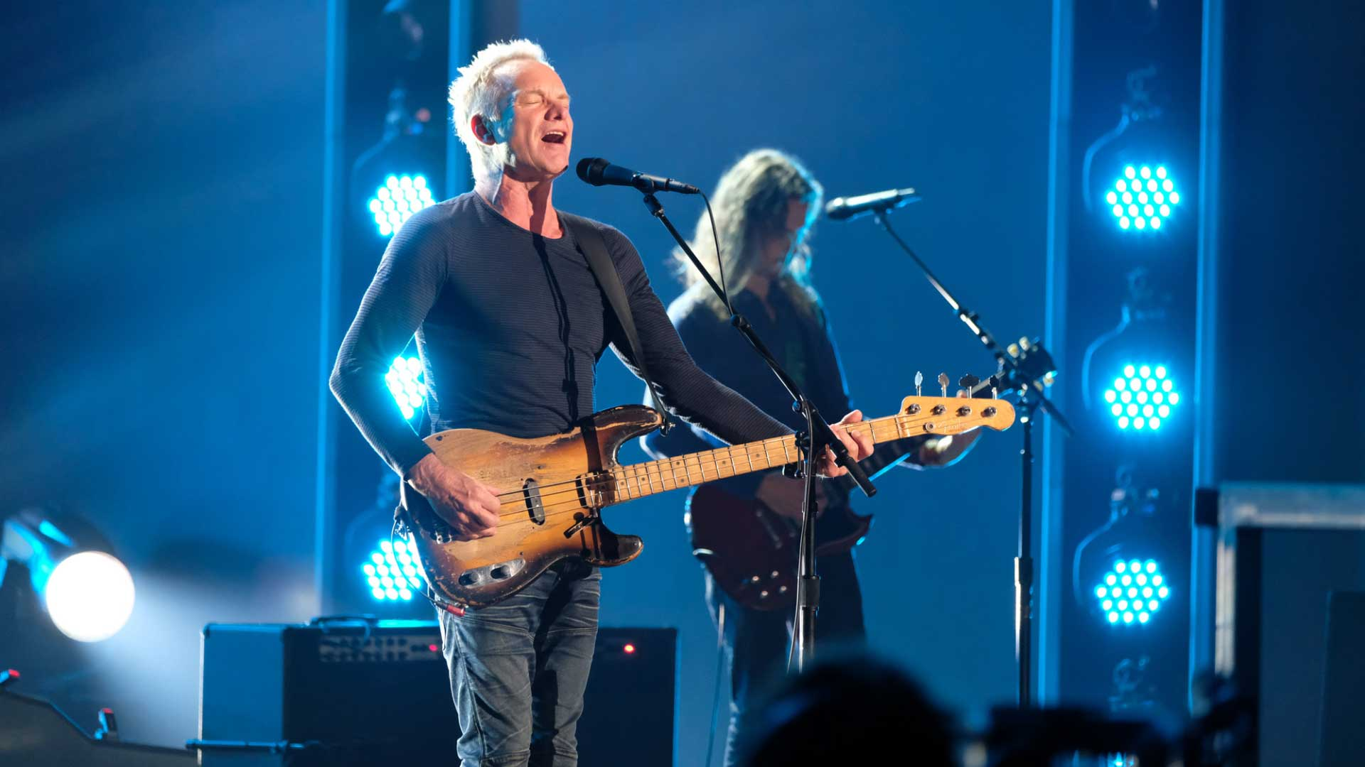 Every little thing Sting does during the 60th Annual GRAMMY Awards rehearsals is magic.