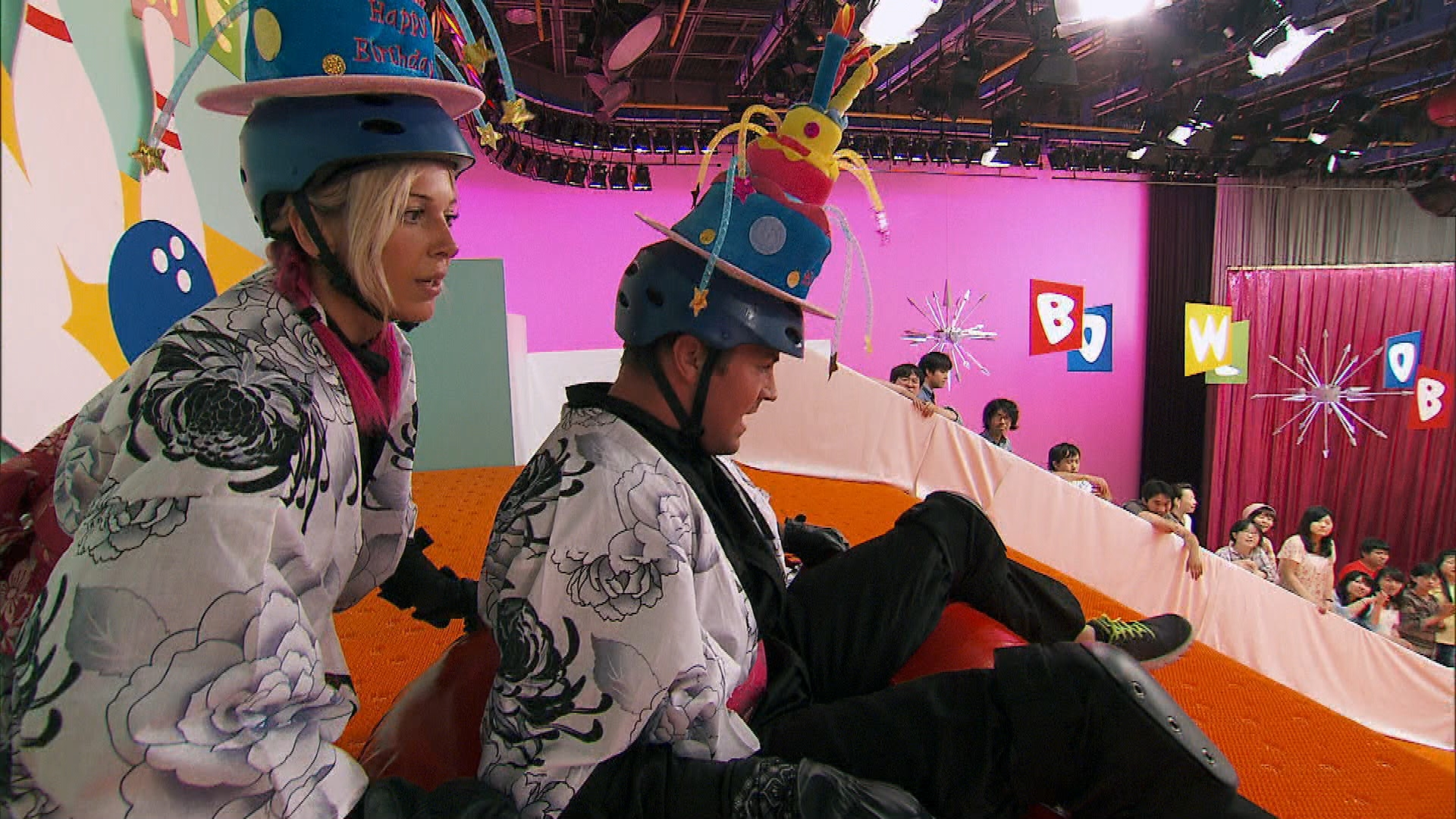 Human bowling balls in the Season 23 Finale