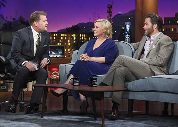 Chris Pine and Patricia Arquette have a sit down.
