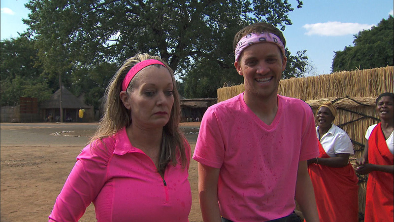 Getting spit on takes #TeamAlabama's Denise by total surprise.