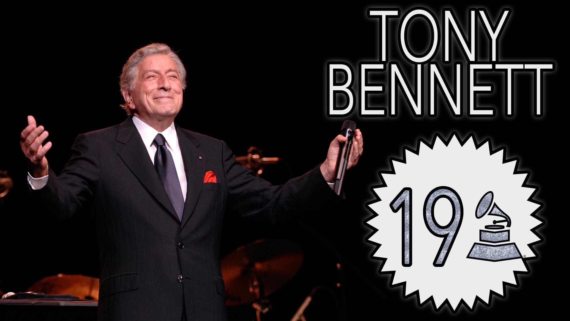 Tony Bennett with 19 GRAMMY Awards