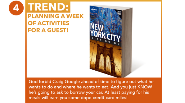 Planning A Week Of Activities For A Guest!