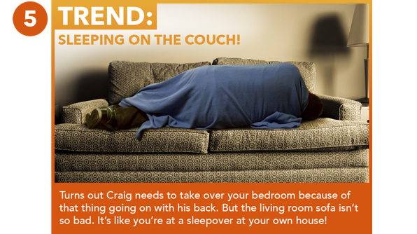 Sleeping On The Couch!