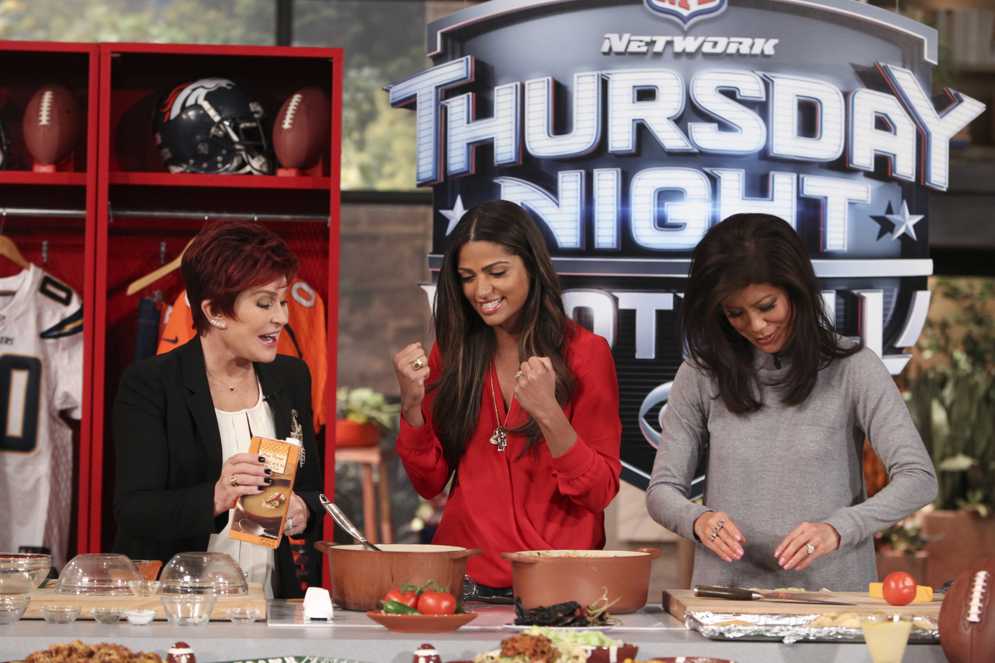 8. Preparing for #TNF with Camila Alves.