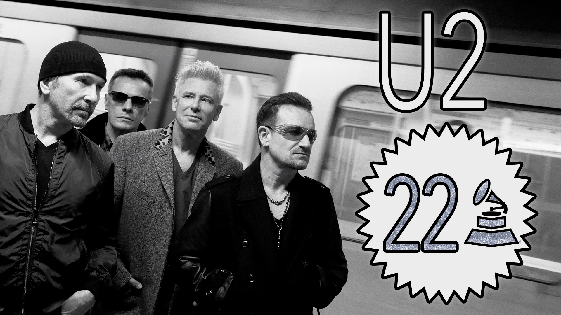 U2 with 22 GRAMMY Awards