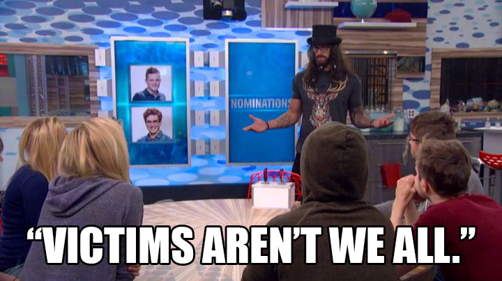 Judas makes a cinematic speech at the nomination ceremony.