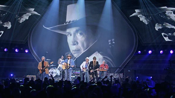 When a melting pot of musicians paid a touching tribute to the late Buck Owens.
