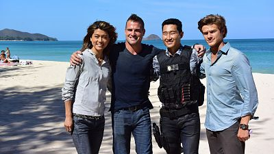 Gets Pumped For MacGyver's Crossover With Hawaii Five-0