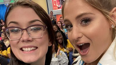 Meghan Trainor Snaps Some Selfies On The Price Is Right